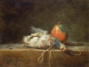 Still Life with Partridge and Pear, 1748 by Jean-Baptiste Simeon Chardin