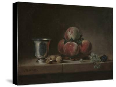 Still Life with Peaches, a Silver Goblet, Grapes, and Walnuts, c.1759-60