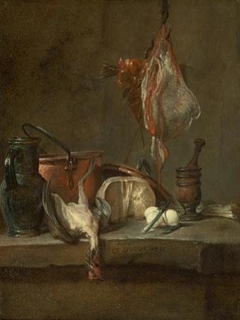 Still Life with Ray and Basket of Onions, 1731