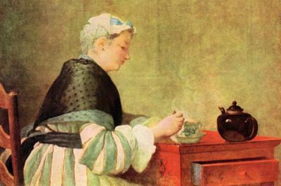 Tea Drinker by Jean-Baptiste Simeon Chardin