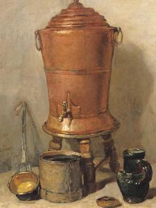 The Copper Drinking Fountain, circa 1733-34 by Jean-Baptiste Simeon Chardin