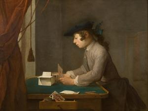 The House of Cards, 1735 by Jean-Baptiste Simeon Chardin