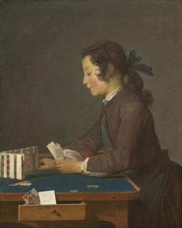 The House of Cards, 1737 by Jean-Baptiste Simeon Chardin