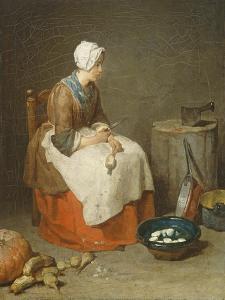 The Kitchen Maid, 1738 by Jean-Baptiste Simeon Chardin