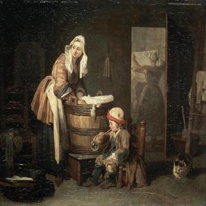 The Laundress, 1730S by Jean-Baptiste Simeon Chardin