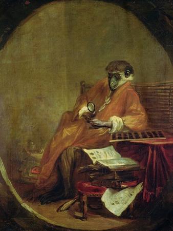 The Monkey Antiquarian, 1740 by Jean-Baptiste Simeon Chardin