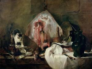 The Ray Or, the Kitchen Interior, 1728 by Jean-Baptiste Simeon Chardin