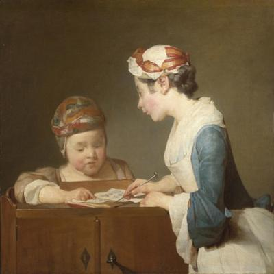 The Young Schoolmistress, 1740 by Jean-Baptiste Simeon Chardin