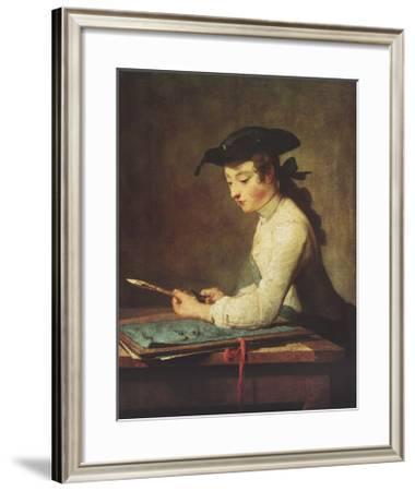 Young Man Sharpening Pencil