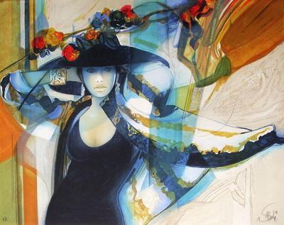 Femme au chapeau I