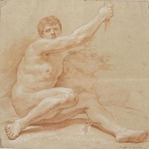 Académie d'homme by Jean Baptiste Van Loo