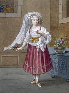 A Girl of Chios, Plate 74 by Jean Baptiste Vanmour