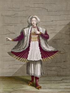 A Girl of Naxos, Plate 71 by Jean Baptiste Vanmour