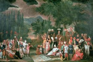 A Turkish Hunting Party with Sultan Ahmed III by Jean Baptiste Vanmour