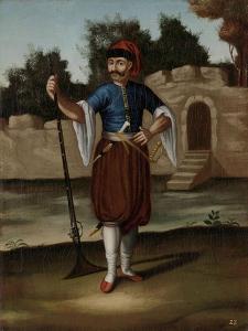 Albanian Soldier by Jean Baptiste Vanmour