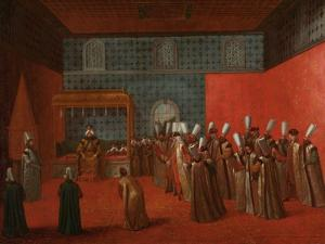 Ambassador Cornelis Calkoen at his Audience with Sultan Ahmed III, c.1727-30 by Jean Baptiste Vanmour