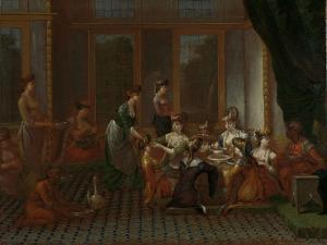 Banquet of Distinguished Turkish Women by Jean Baptiste Vanmour