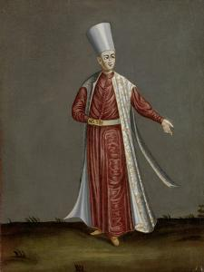 Capon Aghassi, Chief of the White Eunuchs of the Sultan by Jean Baptiste Vanmour