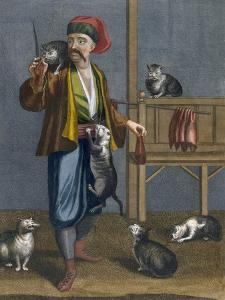 Cat Feeder by Jean Baptiste Vanmour