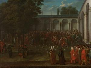 Cornelis Calkoen on his Way to his Audience with Sultan Ahmed III, c.1727-30 by Jean Baptiste Vanmour