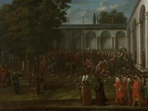 Cornelis Calkoen on His Way to His Audience with Sultan Ahmed III by Jean Baptiste Vanmour