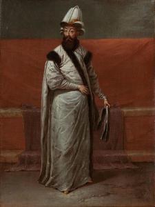 Grand Vizier Nev?ehirli Damat ?brahim Pasa, c.1727-30 by Jean Baptiste Vanmour
