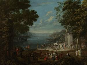 Ladies Outing at Hunkar Iskelesi Along the Bosporus by Jean Baptiste Vanmour