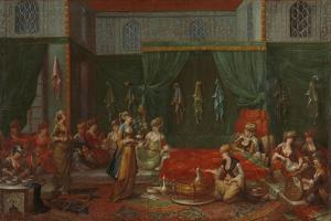 Lying-in Room of a Distinguished Turkish Woman, c.1720-37 by Jean Baptiste Vanmour