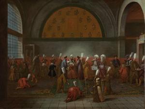 Meal in Honour of Ambassador Cornelis Calkoen by Jean Baptiste Vanmour