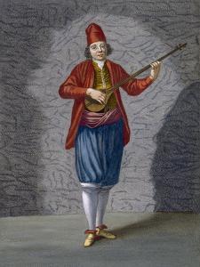 Musician of the Greek Islands, Plate 70 by Jean Baptiste Vanmour