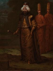 Sultan Ahmed III, c.1727-30 by Jean Baptiste Vanmour