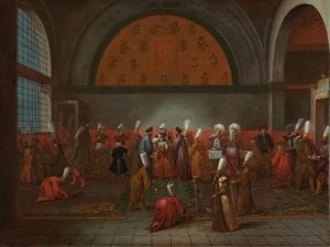 The Meal in Honour of Ambassador Cornelis Calkoen, c.1727-30 by Jean Baptiste Vanmour