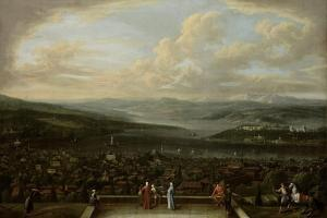 View of Istanbul from the Dutch Embassy at Pera, Jean Baptiste Vanmour by Jean Baptiste Vanmour