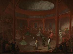 Whirling Dervishes, c.1730 by Jean Baptiste Vanmour