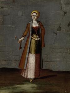 Woman from the Island of Tinos by Jean Baptiste Vanmour