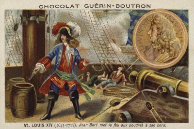 Jean Bart Setting Fire to Gunpowder on Board His Ship, 17th Century--Giclee Print