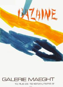 Expo Galerie Maeght 72 by Jean Bazaine