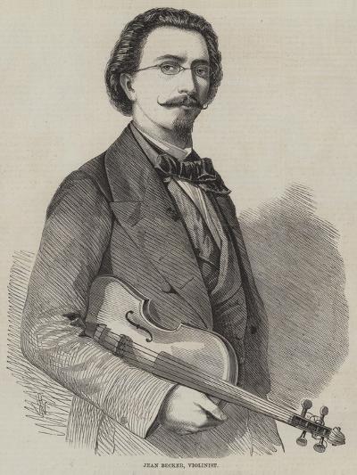 Jean Becker, Violinist-Thomas Harrington Wilson-Giclee Print
