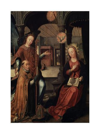 The Annunciation, (Triptych, Central Pane), 1517