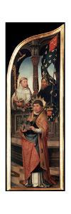 'The Annunciation', (Triptych, side panel), 1517 by Jean Bellegambe