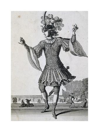 Men's Ballet Costume, Engraving