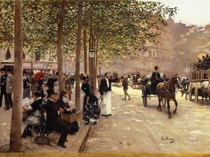 A Paris Street; Une Avenue Parisienne, C.1880 by Jean Béraud