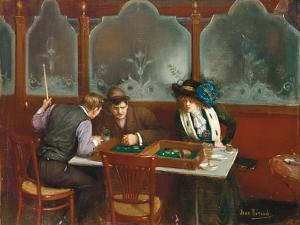 At the Cafe; Au Cafe, 1909 by Jean Beraud