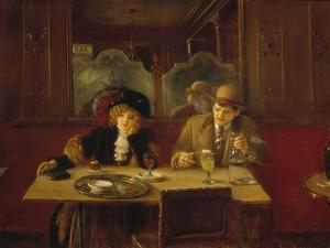 At the Cafe or the Absinthe by Jean Béraud