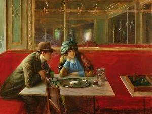 At the Cafe by Jean Béraud