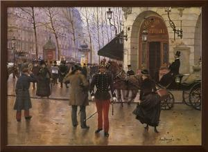 Boulevard des Capucines and The Vaudeville Theatre by Jean Béraud
