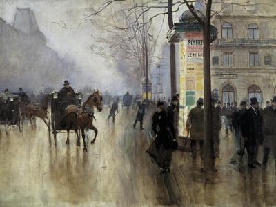 Boulevard Des Italiens in Paris