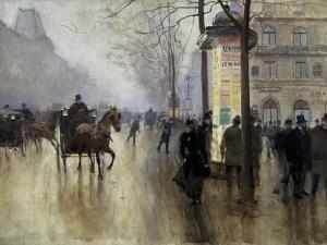 Boulevard Des Italiens in Paris by Jean Béraud