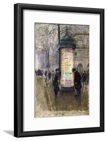 La Colonne Morris (angle de la rue Laffite et du boulevard des Italiens)