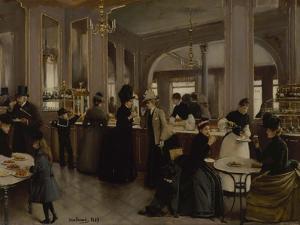La Pâtisserie Gloppe, avenue des Champs-Elysées by Jean Béraud